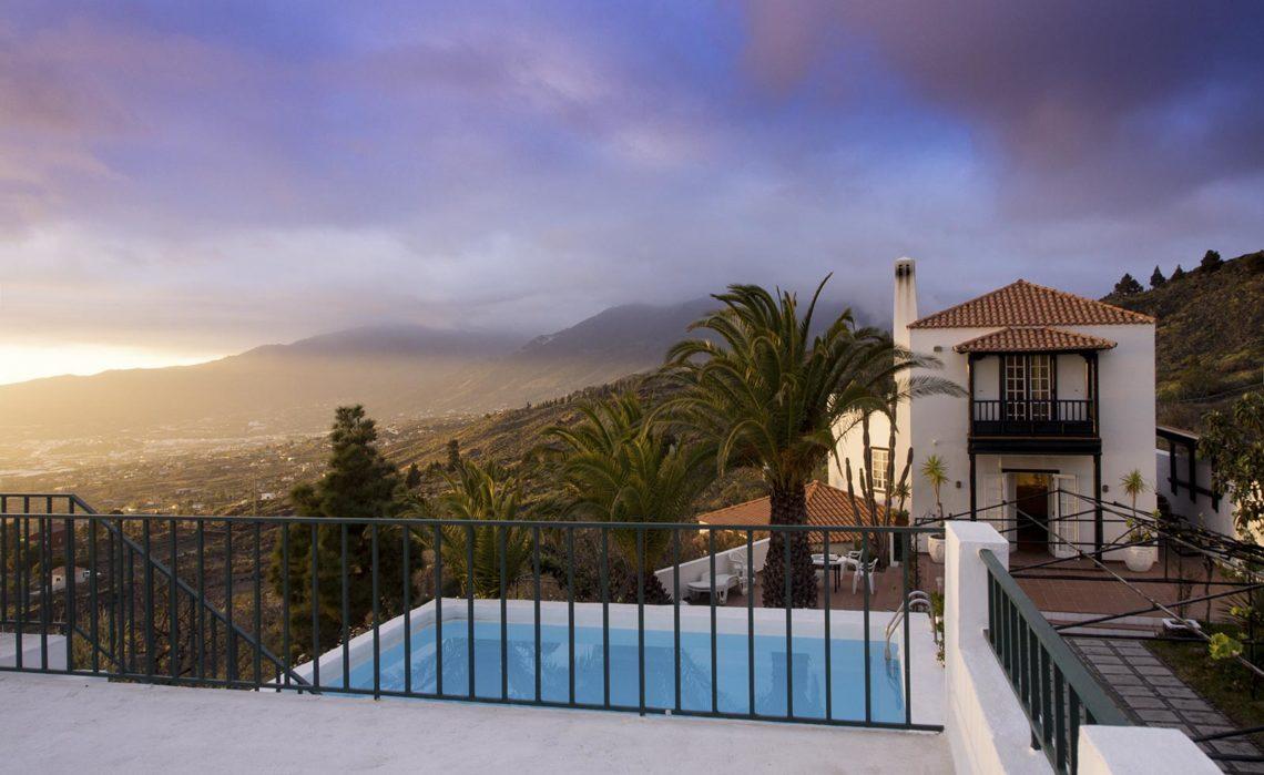 La Palma Finca Aridane Haupthaus und Pool